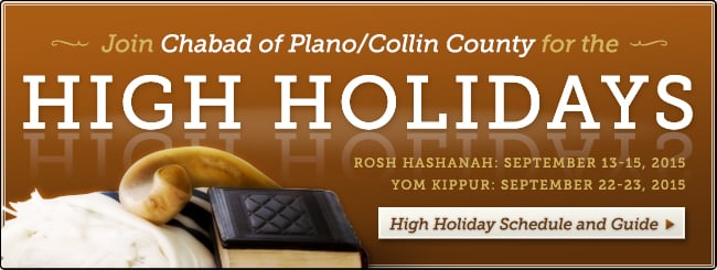 High Holidays with Chabad of Plano/Collin County